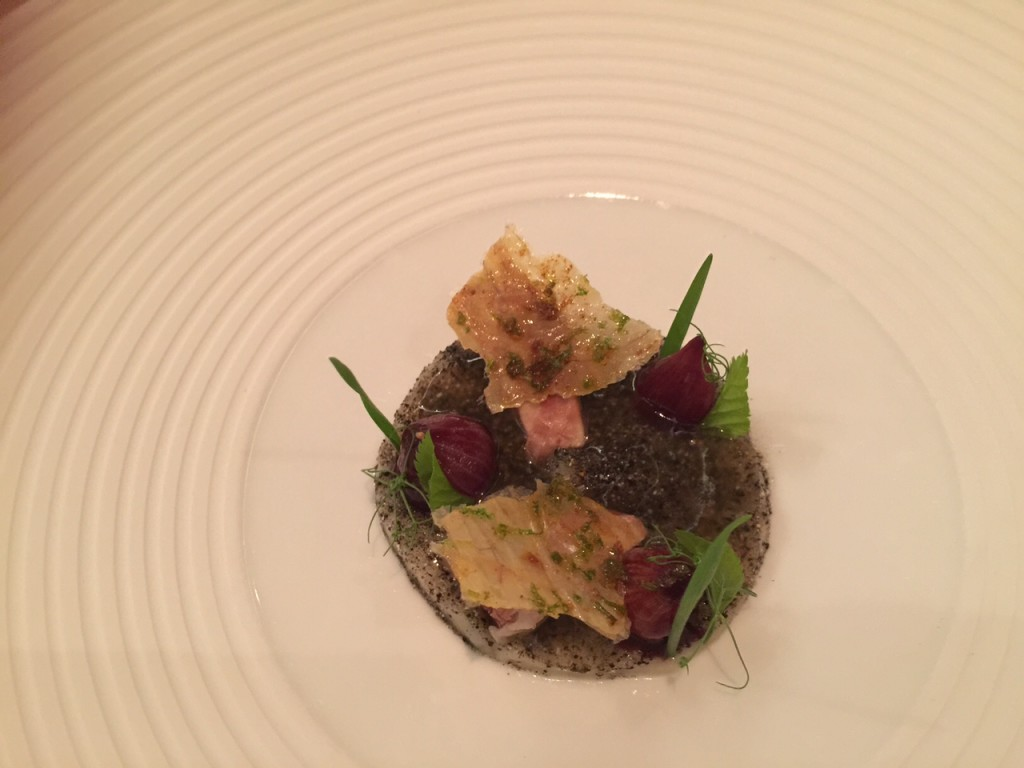 HEAVEN AND EARTH – duck liver, Joselito, turnips and apple