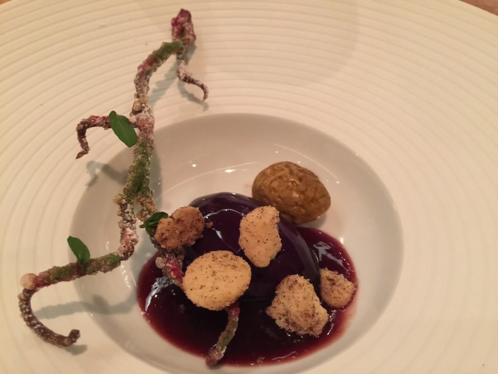 PLUM BRANCH – plums, sour cream, cinnamon and almond ice cream