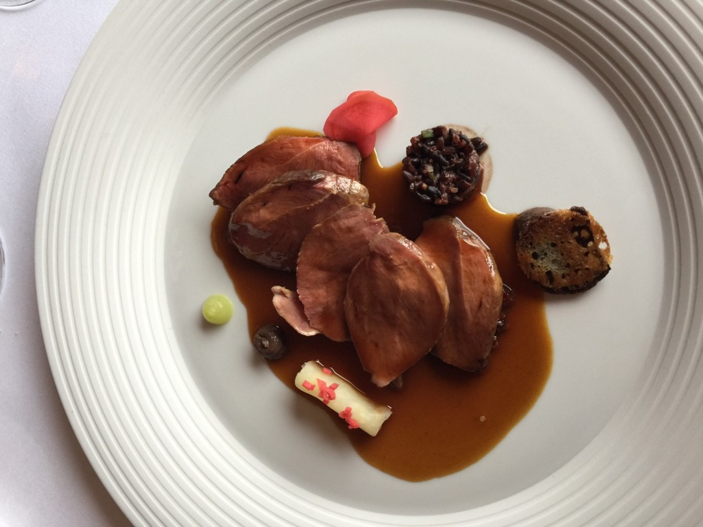 Bresse Pigeon (breast, leg, black pudding and black rice)